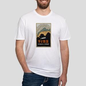 """Fire Wrecks a Forest"" Fitted T-Shirt"