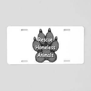 Rescue Homeless Animals Aluminum License Plate