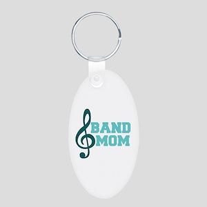 Treble Clef Band Mom Aluminum Oval Keychain