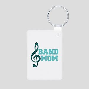 Treble Clef Band Mom Aluminum Photo Keychain