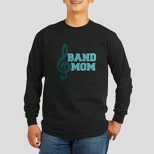 Treble Clef Band Mom Long Sleeve Dark T-Shirt