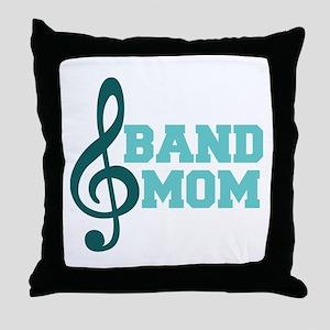 Treble Clef Band Mom Throw Pillow