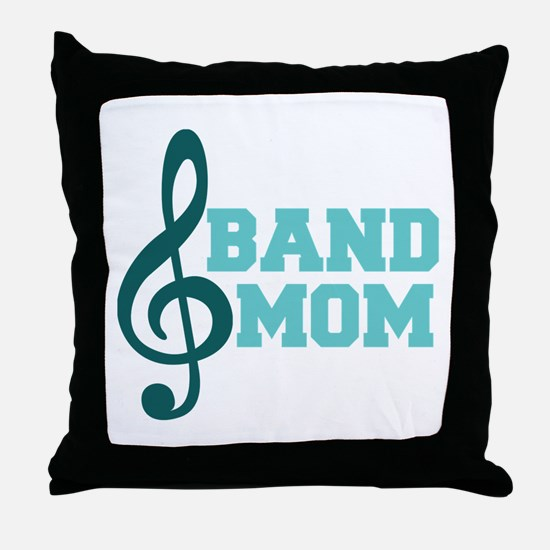 Treble Clef Band Mom Throw Pillow