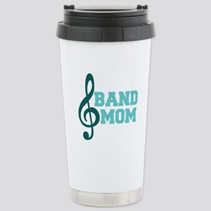 Treble Clef Band Mom Stainless Steel Travel Mug