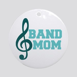 Treble Clef Band Mom Ornament (Round)