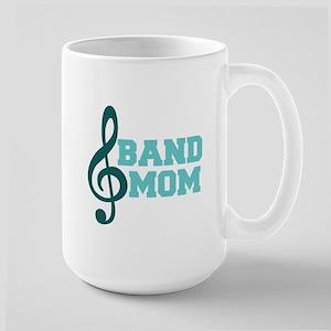 Treble Clef Band Mom Large Mug