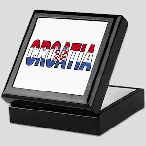 Croatia Soccer Flag Keepsake Box