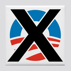 X Obama Tile Coaster