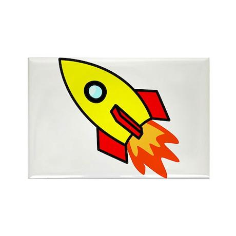Rocket Rectangle Magnet (100 pack)
