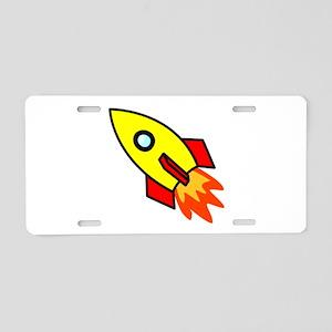 Rocket Aluminum License Plate
