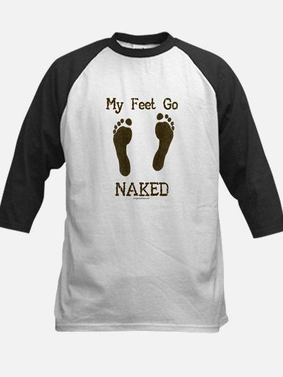 My feet go naked Kids Baseball Jersey