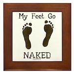 My feet go naked Framed Tile
