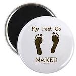 My feet go naked Magnet