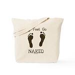 My feet go naked Tote Bag