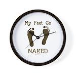 My feet go naked Wall Clock