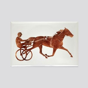 Brown Pacer Silhouette Rectangle Magnet