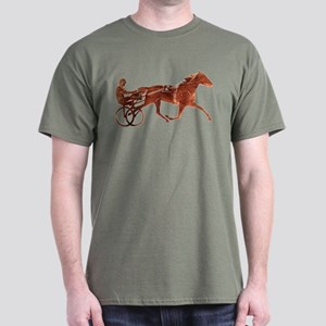 Brown Pacer Silhouette Dark T-Shirt