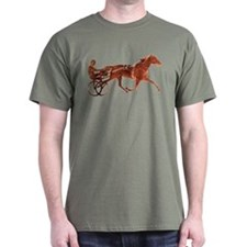 Brown Pacer Silhouette Dark T-Shirt