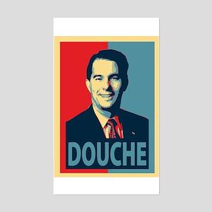 Scott Walker Douche Sticker (Rectangle)