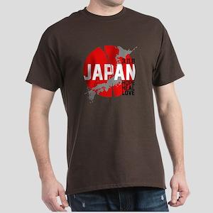 Japan Hope Heal Love Dark T-Shirt