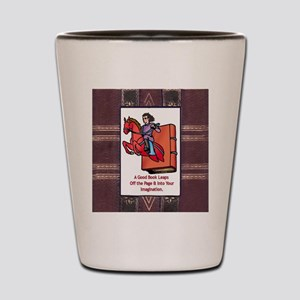 Leap off Page Shot Glass