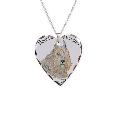 Bouvier des Flandres Wheaten Necklace Heart Charm