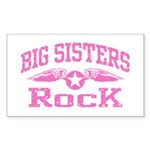Big Sisters Rock Sticker (Rectangle)
