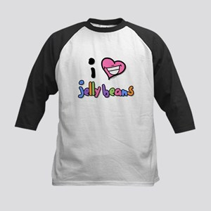 I Love Jelly Beans Kids Baseball Jersey