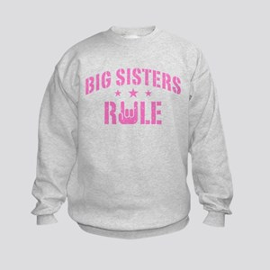 Big Sisters Rule Kids Sweatshirt