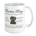 Freedom Rings Large Mug