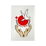 Japan Will Rise Again Rectangle Magnet (100 pack)