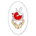 Japan Will Rise Again Sticker (Oval 10 pk)
