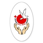 Japan Will Rise Again Sticker (Oval 50 pk)