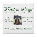 Freedom Rings Tile Coaster