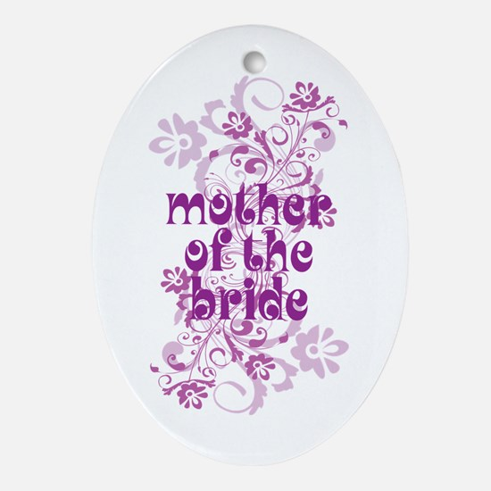 Mother of the Bride Swirl Ornament (Oval)