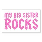 My Big Sister Rocks Sticker (Rectangle)