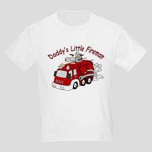 Daddy's Little Fireman Kids T-Shirt