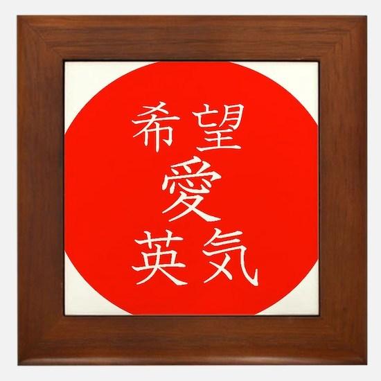 Hope Love Strength Framed Tile