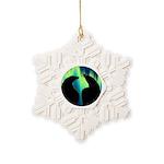 Northern Lights Tribal Bears Snowflake Ornament