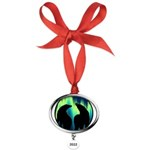 Northern Lights Tribal Bears Oval Year Ornament