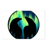 Northern Lights Tribal Bears Postcards (Package of
