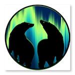 Northern Lights Tribal Bears Photo Wall Tile