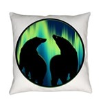 Northern Lights Tribal Bears Everyday Pillow
