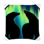 Northern Lights Tribal Bears Woven Throw Pillow