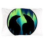 Northern Lights Tribal Bears Pillow Case