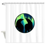 Northern Lights Tribal Bears Shower Curtain