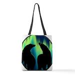 Northern Lights Tribal Bears Polyester Tote Bag