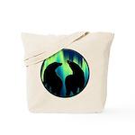 Northern Lights Tribal Bears Tote Bag