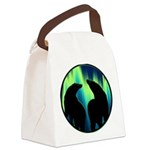 Northern Lights Tribal Bears Canvas Lunch Bag