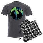 Northern Lights Tribal Bears Men's Charcoal Pajama
